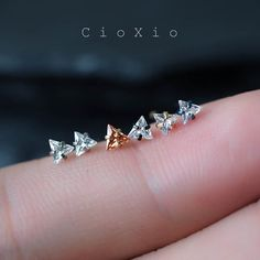 nose ring nose piercing nose stud nose jewelry triangle by CioXio