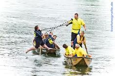 Donaustechen/Danube Jousting, traditional summer competition, Ingolstadt, Bavaria, Germany