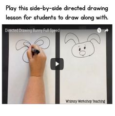 Love this! Play this directed drawing lesson for the class - students can draw along. Just pause it when needed.