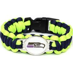 Seattle Seahawks Paracord Bracelet USA Football Team Logo Charm Braided Bracelet for Women Men Outdoor Bracelets Bangle Jewelry