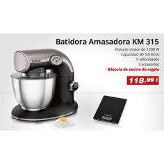 Batidora amasadora con potencia de 1200 W + Regalo Báscula de cocina!! Batidora Amasadora BOMANN KM 315 http://www.electroactiva.com/bomann-km-315-batidora-amasadora-capacidad-de-5-6-litros-5-velocidades-1200-w-color-negro-y-plata.html #Elmejorprecio #Amasadora #Batidora #Electrodomestico #Rebajas