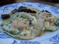 Tortello all rosso di uovo Ver receta: http://www.mis-recetas.org/recetas/show/60451-tortello-all-rosso-di-uovo