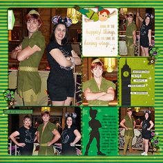 """Layout by Heather. Meeting Peter Pan on Disney Cruise Fantasy. Credits: """"play"""" 