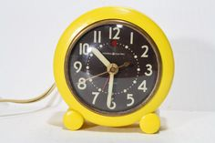 Vintage Retro Yellow General Electric Wind Up by FishboneDeco, $42.00