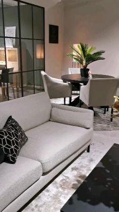 Modern Grey Bedroom, Blue And White Living Room, Living Room Grey, Home Living Room, Grey Interior Design, Apartment Interior Design, Interior Design Living Room, Living Room Designs, Home Design Floor Plans