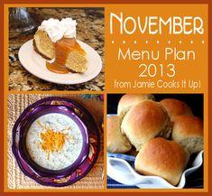 November Menu Plan 2013 from Jamie Cooks It Up!