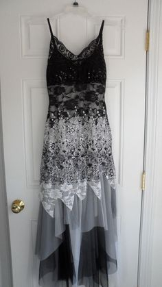 Angel Fashions Prom Party Homecoming Cocktail Dress Black & White Size M NWT #Angelfashions #StretchBodycon #Formal