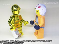 Luke and C-3PO are only two of my papercraft LEGO minifigs (and lots more! ;o) http://ninjatoes.wordpress.com/category/lego/