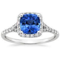 18K White Gold Sapphire Harmony Diamond Ring from Brilliant Earth