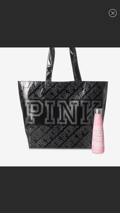 Pink Workout, Pink Tote Bags, Gym Bag, Water Bottle, Water Bottles