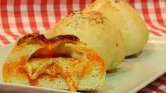 Cómo hacer pan casero relleno de queso y sobrasada