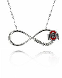 Ohio State Buckeyes Infinity Pendant Necklace NCAA Buckeyes Silver Plated Jewelry