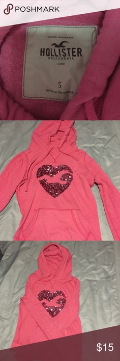 Pink Hollister hoodie Cozy hoodie with sparkles that's perfect for the winter Hollister Tops Sweatshirts & Hoodies