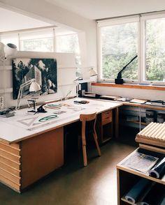 Alvar Aalto Studio via wallpapermag