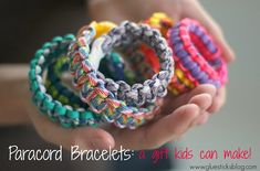 Paracord Bracelets: a gift kids can make!
