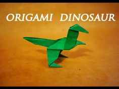 ▶ How to make an Easy Origami Dinosaur - YouTube