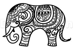 hindu elephant drawing lesson step 7