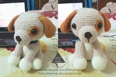 Amigurumi Puppy - FREE Crochet Pattern / Tutorial here: http://littleyarnfriends.com/post/28548679575/crochet-pattern-lil-kino-the-puppy