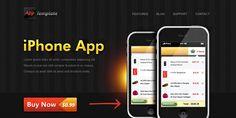 free iphone app website template