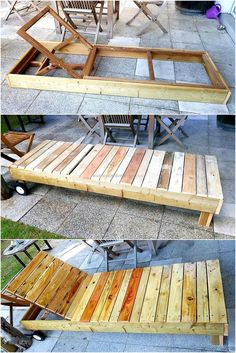 Use Pallet Wood Projects to Create Unique Home Decor Items – Hobby Is My Life Lawn Furniture, Wood Pallet Furniture, Diy Outdoor Furniture, Wood Pallets, Recycled Pallets, Recycled Wood Furniture, Furniture Cleaning, Furniture Layout, Furniture Ideas