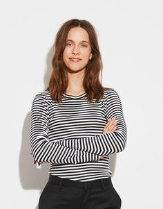 MADS NØRGAARD TUBA LONG SLEEVE STRIPED TOP | AMELIE