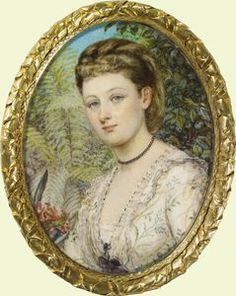 Miniature portraits of Queen Victoria and family | Madame Guillotine.  Miniature portrait of Princess Louise, Marchioness of Lorne, Annie Dixon, 1873. Photo: Royal Collection.