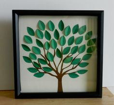 3D Tree Guest Book Alternative, Going Away Card, Sign the Blank Leaves (Custom Colors Available). $50.00, via Etsy.
