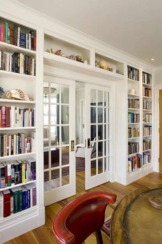 Home Library Office Ideas Built Ins 60 Ideas For 2019 Home Library Design, Interior Design Living Room, Living Room Decor, House Design, Kitchen Interior, Door Design, Wall Design, Living Rooms, Interior Livingroom