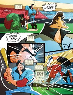 Sunday at the Park, Casey at the Bat but with Marvel vs. DC.