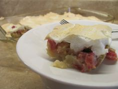 Minnesota Rhubarb Dessert - I remember loving this growing up.  Better make it for my kiddos!