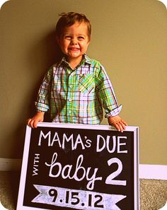 mama's due with baby 2! what a cute way to announce a pregnancy!