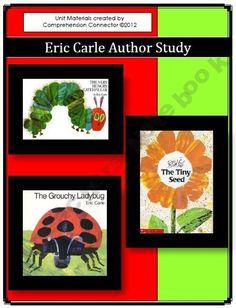 Eric Carle Unit (Very Hungry Caterpillar, Grouchy Ladybug, Tiny Seed) Teacher Inspiration, Classroom Inspiration, Teaching Themes, Teaching Tools, Teacher Education, Elementary Education, School Fun, School Stuff, School Ideas