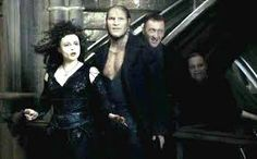 Bellatrix, Fenrir and the Death Eaters in a scene she was not originally in. She looks fabulous though.