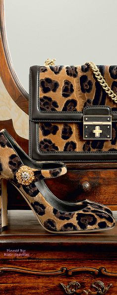 Shop Dolce & Gabbana at Harrods and earn Rewards points, in-store and online. Leopard Fashion, Animal Print Fashion, Fashion Prints, Beautiful Bags, Beautiful Shoes, Pretty Shoes, Winter Accessories, Fashion Accessories, Motif Leopard