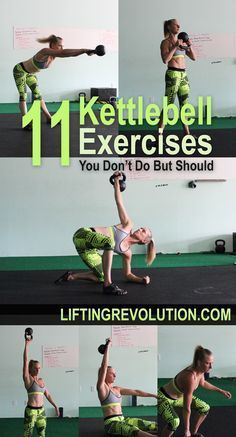 11 Fun Kettlebell Exercises You Don't Do But Should #kettlebells #exercises #totalbodyworkout