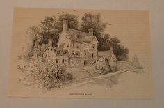 1886 magazine engraving ~ THE JENNINGS HOUSE, Maryland