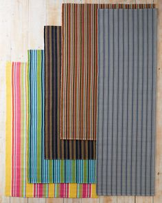 Bertie Stripe Indoor-Outdoor Rug by Dash & Albert $328 for 6x9. kitchen sink stripe (2nd from right) would be great for craft room.