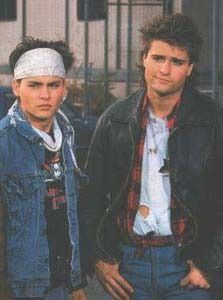 Johnny Depp (Tom Hanson) and Peter DeLuise (Doug Penhall) from 21 Jump Street.  My first and forever man crushes.