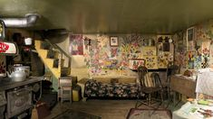 "Maud Lewis turned the single ground-floor room of her house into her studio, her showroom, and her ""canvas. Grandma Moses, Renoir, Small Paintings, Paintings For Sale, Maudie Lewis, Painted Christmas Cards, Episode Backgrounds, No Rain, Arte Popular"