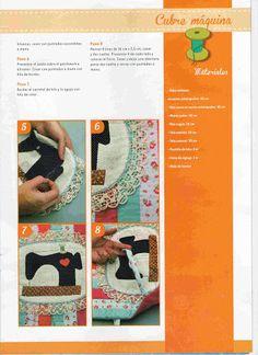 Moldes Para Artesanato em Tecido: Capa para maquina de costura com molde passo a passo
