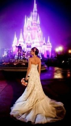 Disney Wedding Picture. I would love to do this so much!