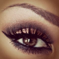 Coppery Smoked Eye make-up-mak