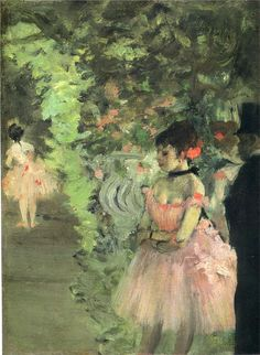 Dancers Backstage - Edgar Degas -