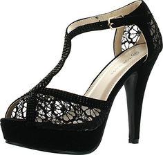 0b0d99bde80 Top Moda Open Toe Crochet High Heel Sandals Black 9 B(M) US  Top Moda is a  fashion shoe brand based in California. Top Moda offers a wide array of  styles ...