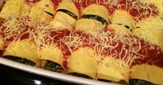 Lekker eten met Marlon: Heerlijke cannelloni met spinazie. Of als lasagne. Zelfde ingrediënten, ander uiterlijk