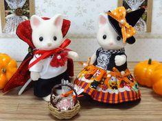 Handmade costumes - Silk Cat Vampire and Witch