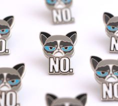 Hey, I found this really awesome Etsy listing at https://www.etsy.com/listing/281409114/grumpy-cat-lapel-pin-animal-pins-cute