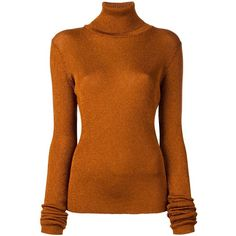 Marios glitter effect turtleneck jumper ($217) ❤ liked on Polyvore featuring tops, sweaters, turtle neck jumper, polo neck top, turtle neck sweater, brown turtleneck and brown turtleneck sweater
