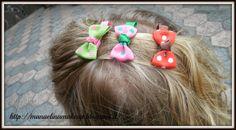 3Pcs Stunning Polka Dot Hair Clip Kids Bowknot Hair Clip 13428