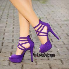 Mor Topuklu Ayakkabı #heels #purple